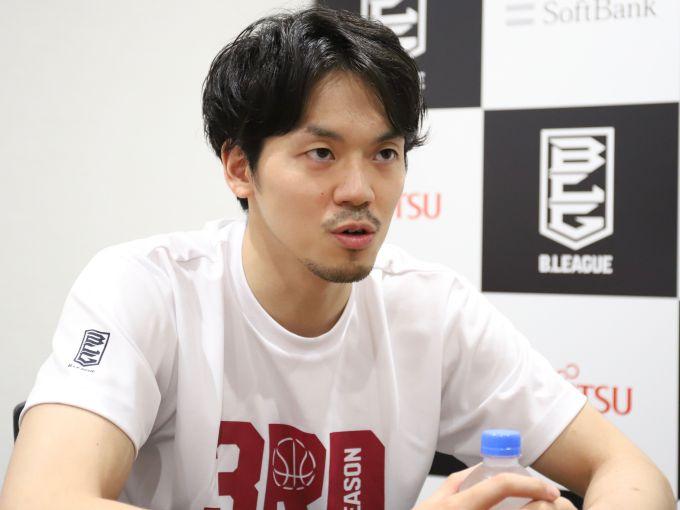 3年目の開幕に向け心機一転&気合十分の篠山竜青「全チームのガードがライバル」