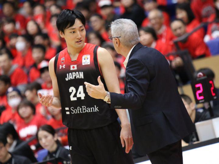 ポイントガードを務めた田中大貴、堅守からの速攻で日本代表を逆転勝利へと導く