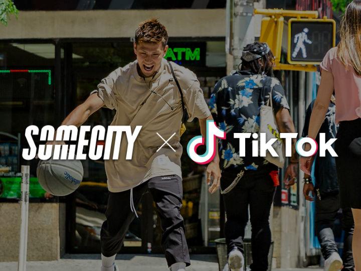 『TikTok』がストリートバスケリーグ『SOMECITY』のスペシャルパートナーに
