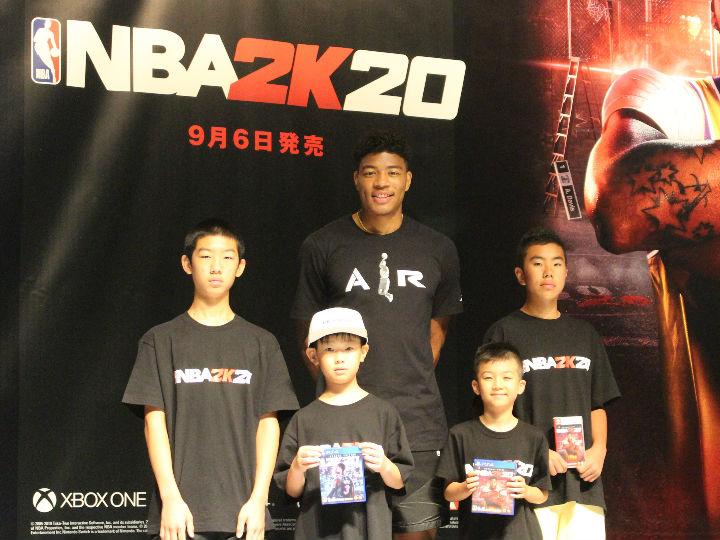 八村塁がNBA公認バスケットゲーム『NBA 2K20』オフィシャルアンバサダーに就任