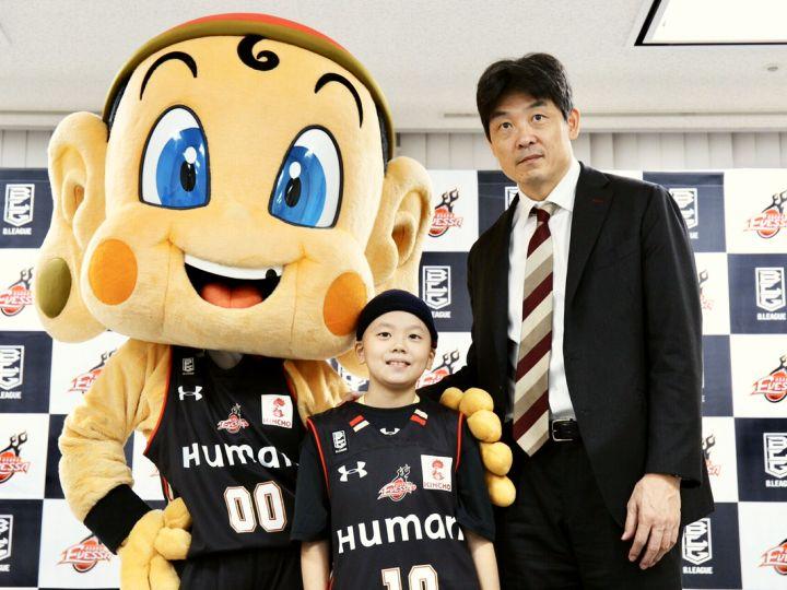 大阪エヴェッサに10歳の土田琉偉くんが入団「何事もあきらめずにチャレンジする」