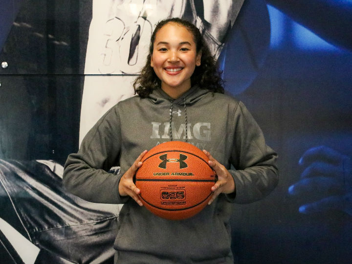 アメリカのIMGアカデミーでバスケに励む太原絵葉「目標はNCAAに行くこと」