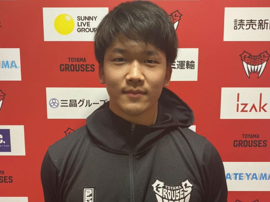 関東大学リーグの3ポイントシュート王、松脇圭志が富山グラウジーズに特別指定選手として入団