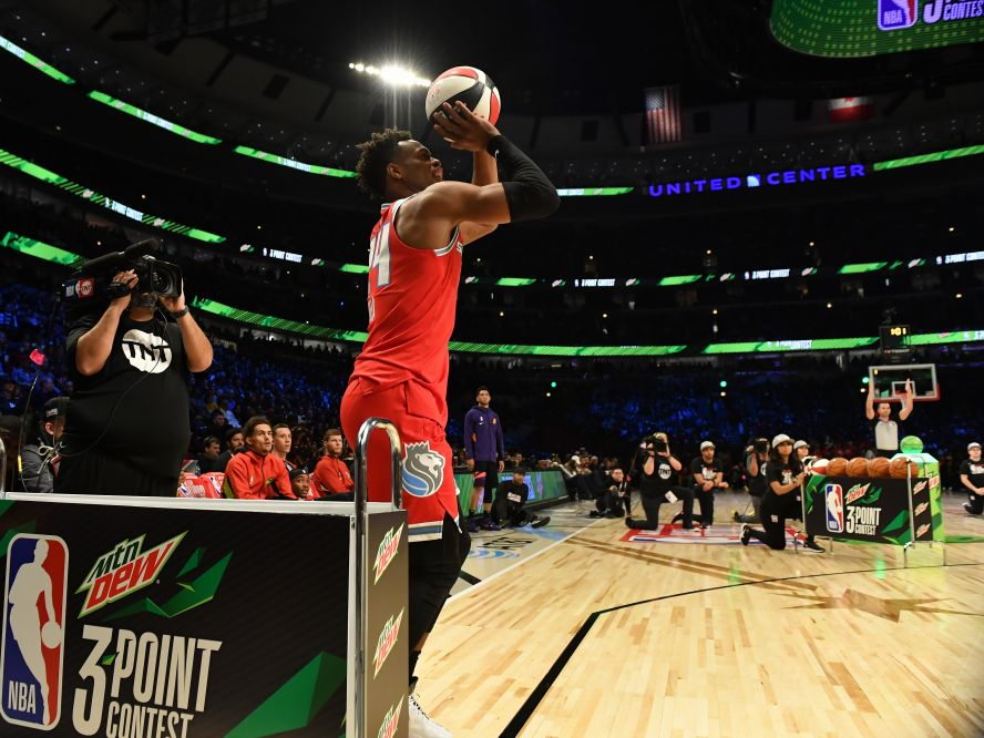 NBAの3ポイントシュート王者は『ラストショット』で逆転優勝を決めたバディ・ヒールド「大きな喜び」
