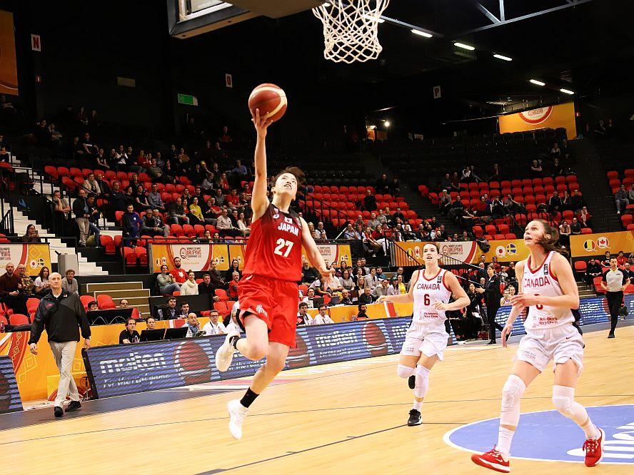 バスケ女子日本代表はカナダに敗れ連敗、林咲希の得点ラッシュもミスが続き追い上げ及ばず