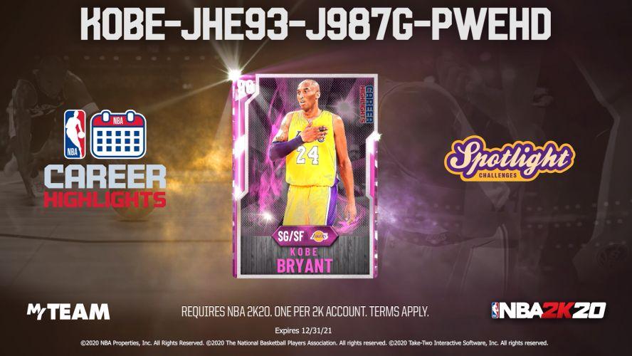 NBA2K20にコービー・ブライアントの引退試合を記念したカードが登場、すべてのプレーヤーに無料でプレゼント!