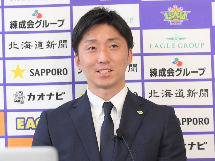 レバンガ北海道の新ヘッドコーチに就任した宮永雄太「誰か一人に頼るスタイルで戦うつもりはない」