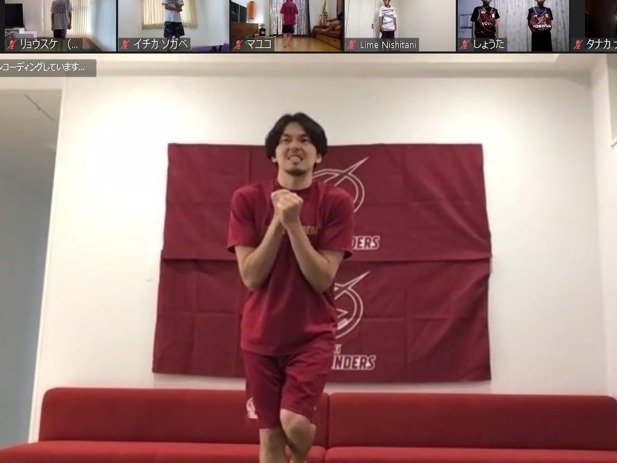 川崎ブレイブサンダースがオンラインバスケ教室を開催、篠山竜青キャプテンは「オンラインでもイケる」と手応え