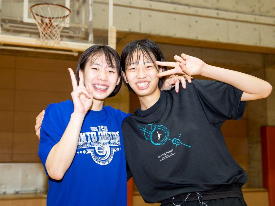 最後の挑戦でウインターカップ出場を、千葉英和の志村愛莉&高根澤伽心「笑い合い励まし合いながらやっていきます」