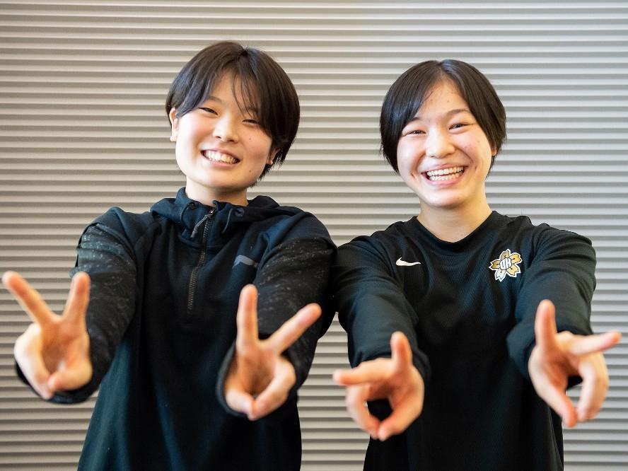 昨年の日本一を経験する桜花学園の3年生コンビ、前田芽衣&江村優有「圧倒的に勝って優勝したい」