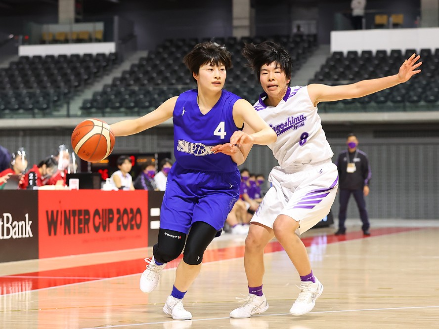 昭和学院が堅守速攻を体現しウインターカップ初戦で快勝も、主将の三田七南は全国制覇に向け気を引き締め直す