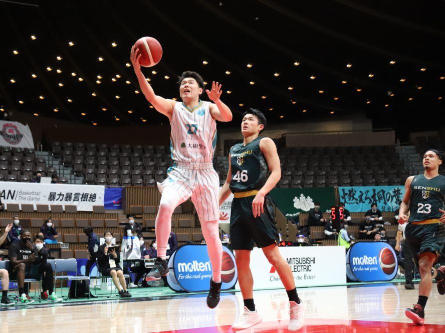 筑波大のエースとしてインカレ得点王に輝いた山口颯斗、特別指定選手としてレバンガ北海道に加入