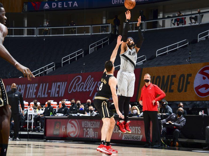 NBA通算得点を2万7318点とし、歴代10位となったカーメロ・アンソニー「今もバスケを愛しているし、プレーを楽しんでいる」