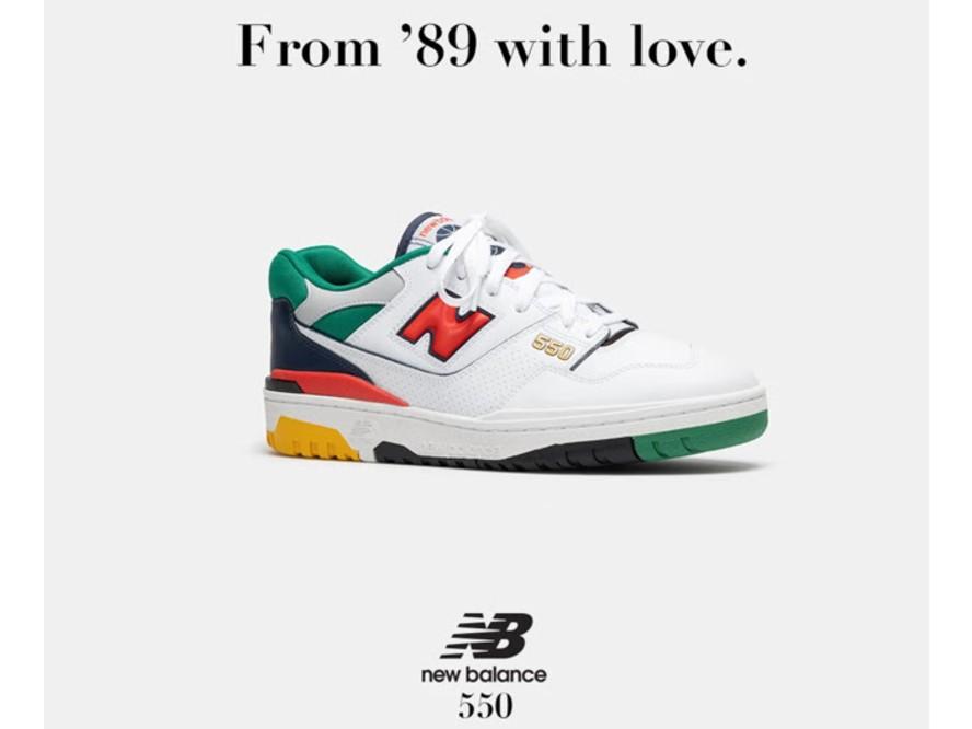 ニューバランスの復刻バスケットシューズ『BB550』の新カラーは、アメリカンスポーツカルチャーから着想を得た一足に