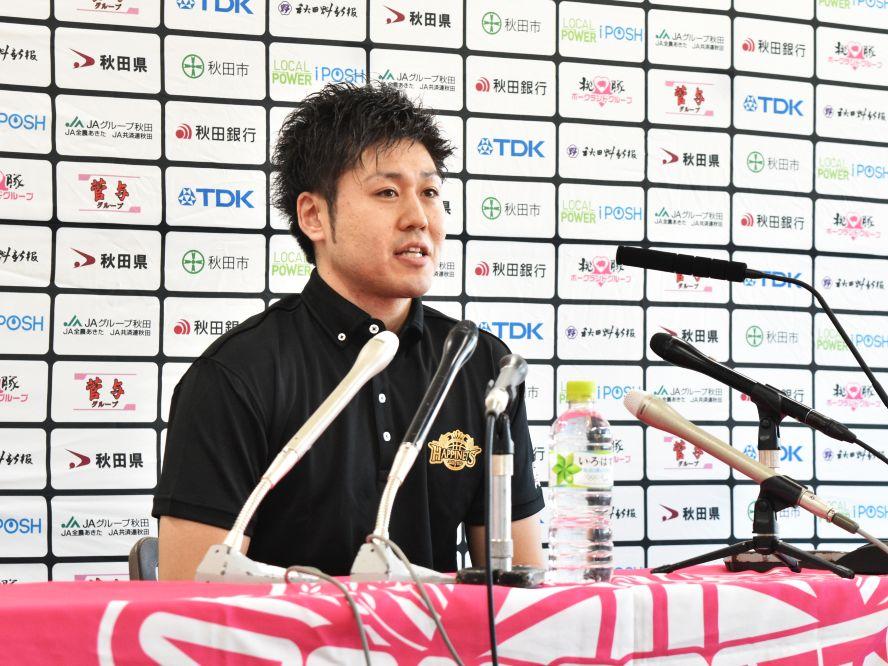 秋田ノーザンハピネッツへの復帰を決めた田口成浩、優勝への思い「最後はトロフィーを顕蔵さんに掲げてもらいたい」