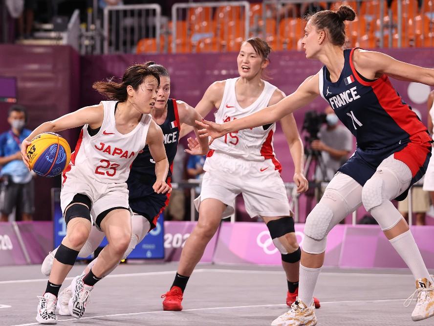 3人制バスケ『3x3』女子日本代表、準々決勝でフランスに敗れメダル獲得の目標達成ならず
