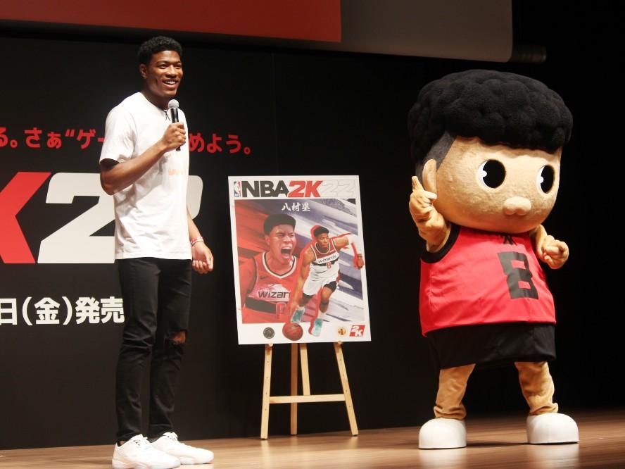 『NBA 2K22』の日本限定版特別バージョンのカバーを飾る八村塁「2Kのカバーになれたことはすごくうれしい」